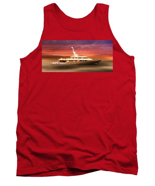 Tank Top featuring the photograph Triton Yacht by Aaron Berg
