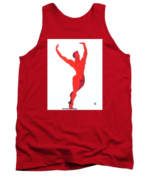 Tank Top featuring the painting Triumphant Balance by Shungaboy X