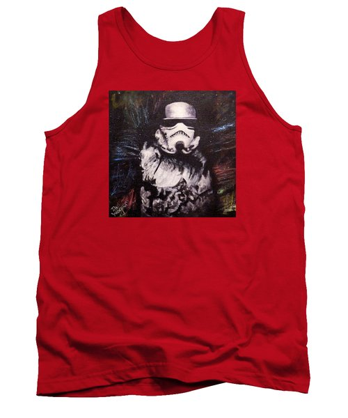 Tank Top featuring the painting Trooper  by Dan Wagner