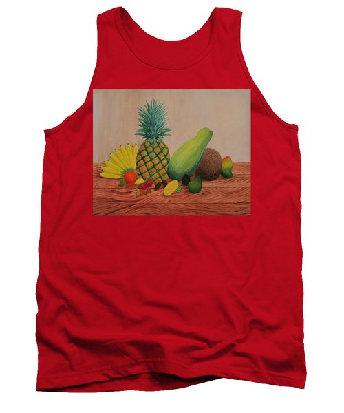 Tropical Fruits Tank Top by Hilda and Jose Garrancho