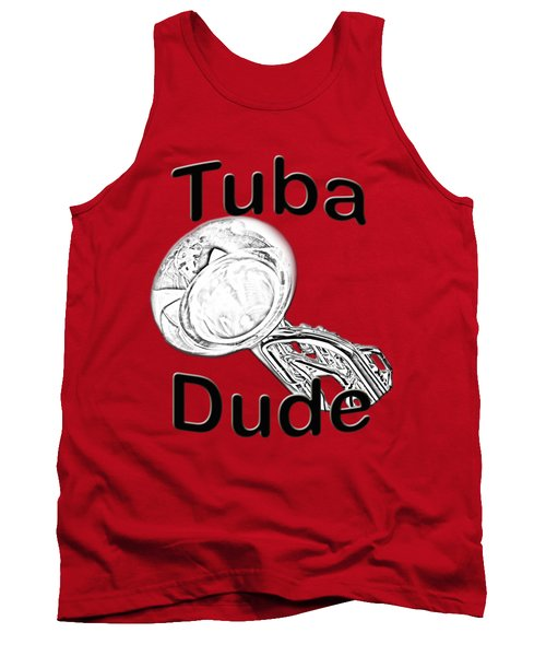 Tuba Dude Tank Top by M K  Miller