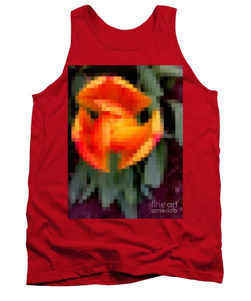 Tank Top featuring the photograph Tulip 1 Honoring Princess Diana by Richard W Linford