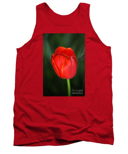 Tulip Red With A Hint Of Yellow Tank Top