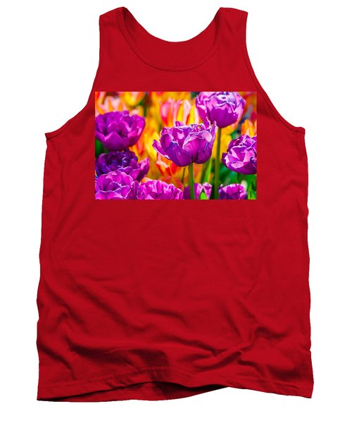 Tank Top featuring the photograph Tulips Enchanting 41 by Alexander Senin