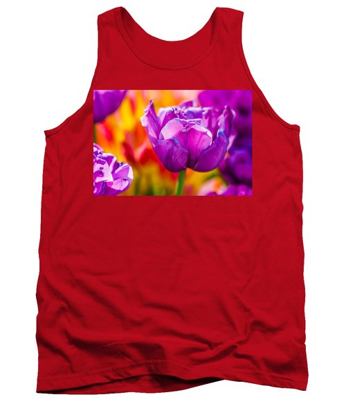 Tank Top featuring the photograph Tulips Enchanting 43 by Alexander Senin