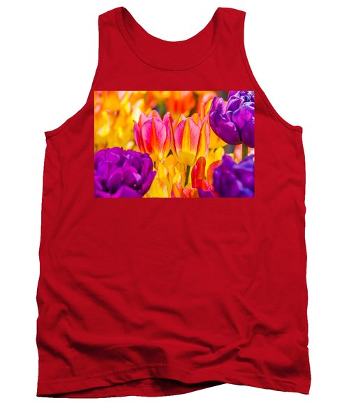 Tank Top featuring the photograph Tulips Enchanting 45 by Alexander Senin