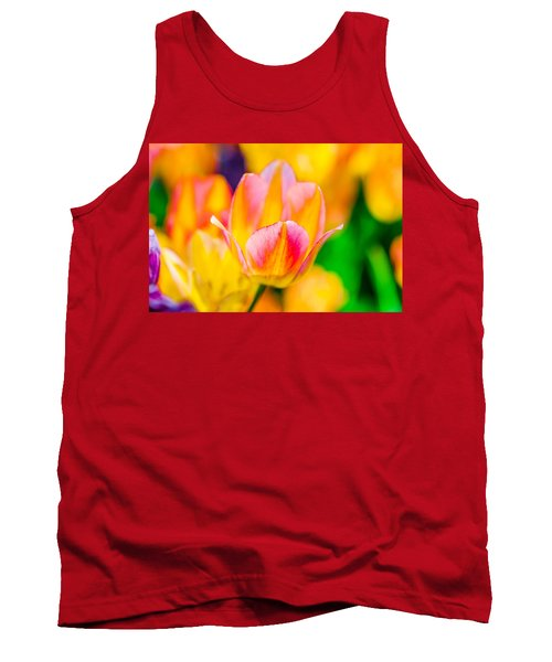 Tank Top featuring the photograph Tulips Enchanting 48 by Alexander Senin