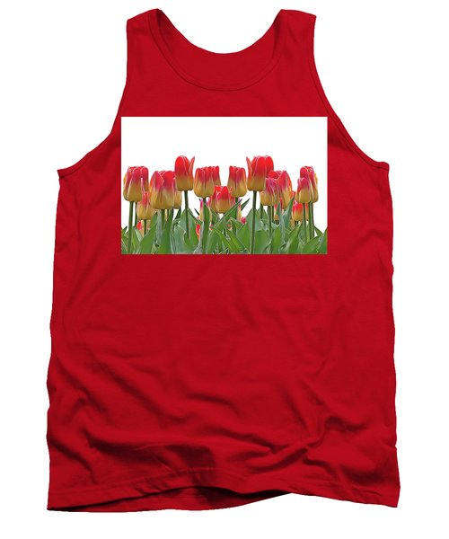 Tank Top featuring the painting Tulips by Harry Warrick