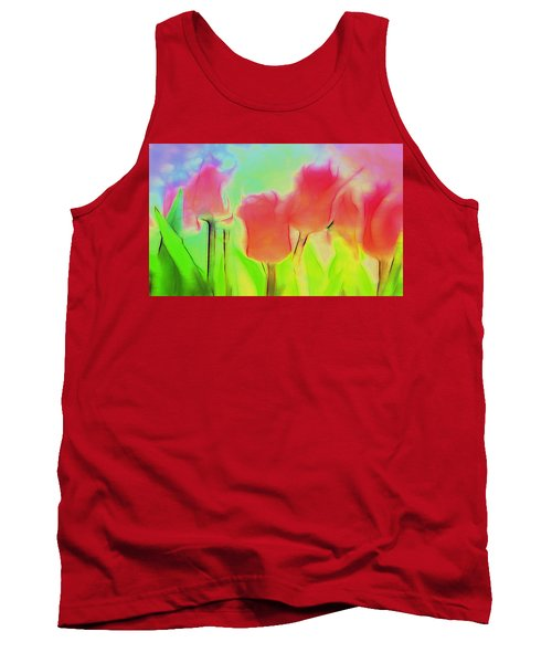 Tulips In Abstract 2 Tank Top