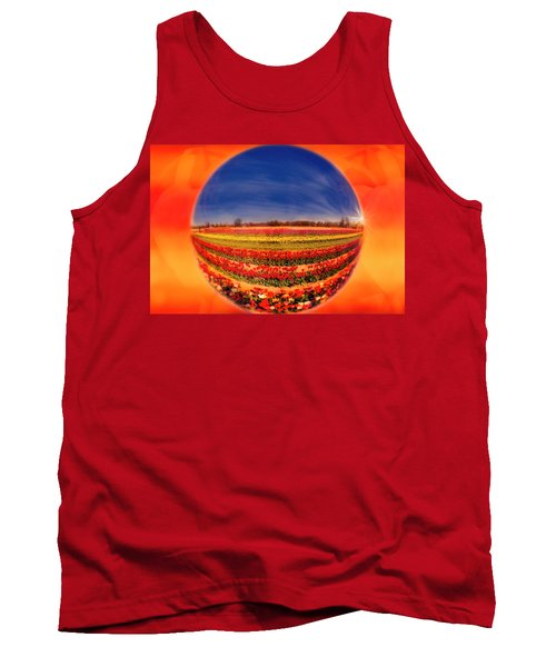Tank Top featuring the photograph Tulips Reflections And Refractions by Susan Candelario