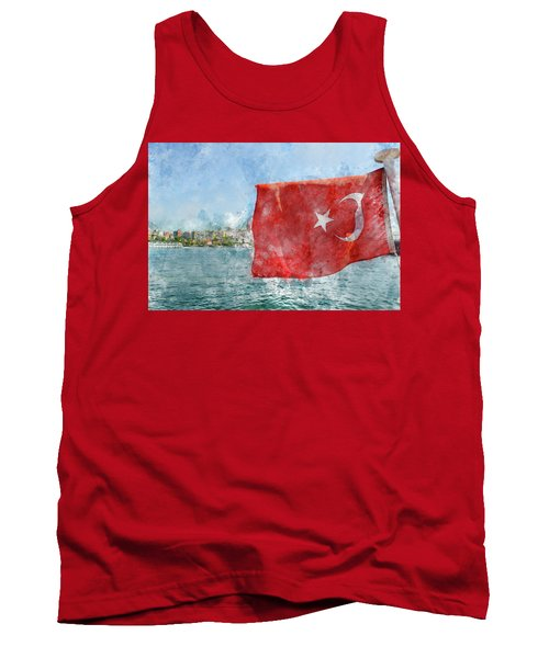 Turkish Flag Tank Top