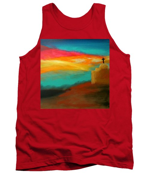 Turquoise Trail Sunset Tank Top by Keith Thue