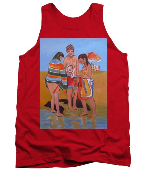 Tweens At The Beach Tank Top