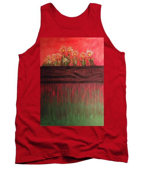 Twelve Daises In Window Box Tank Top