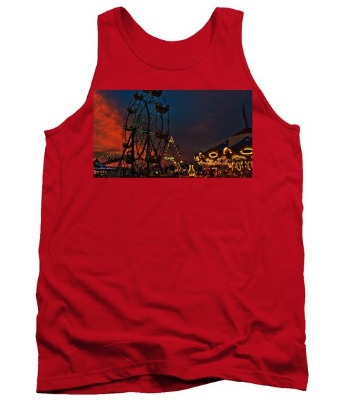 Twilight On The Midway  Tank Top by John Harding