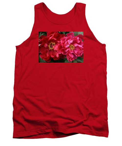 Twin Peonies Tank Top by Bruce Bley