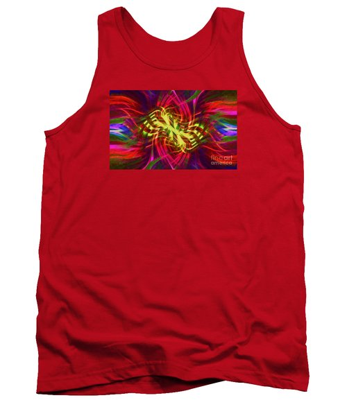 Tank Top featuring the photograph Twirly Mandala 02 by Jack Torcello