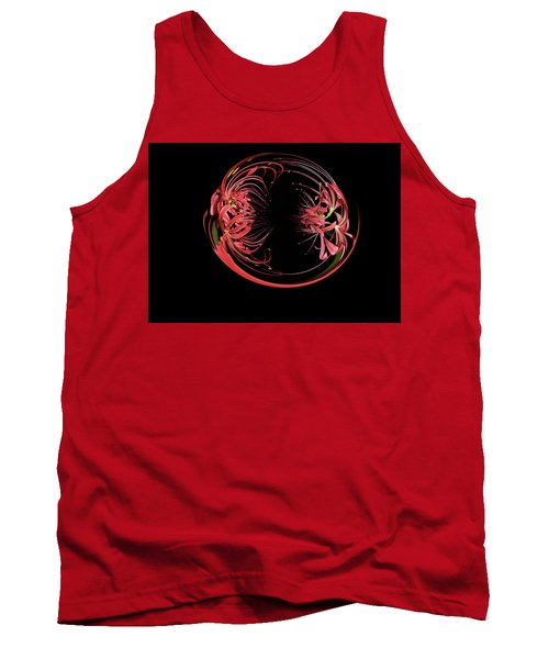 Two Blossom Red Spider Lily Orb Tank Top