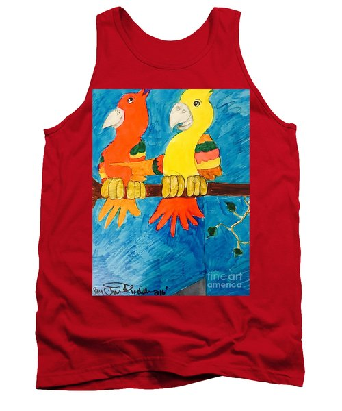 Two Double Yelloe Headed Birds Tank Top