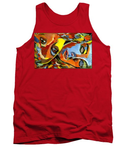 Tank Top featuring the painting Two Souls by Helena Wierzbicki