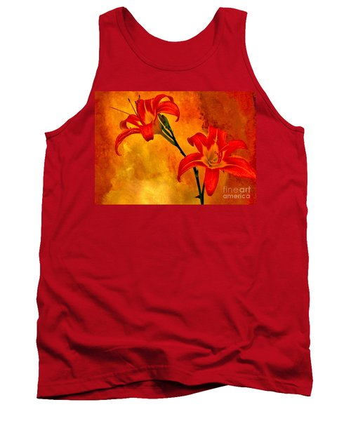 Tank Top featuring the digital art Two Tigerlilies by Marsha Heiken