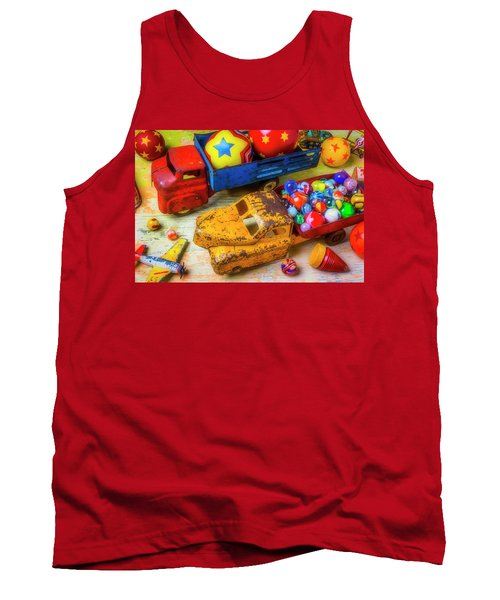 Two Toy Trucks Tank Top