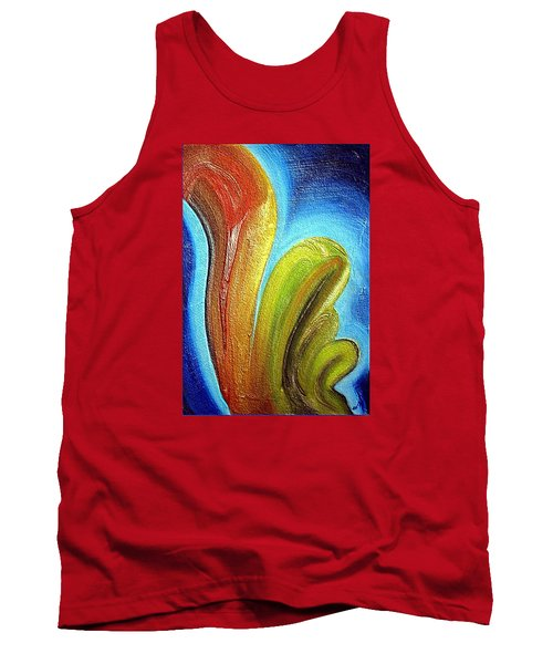 Tank Top featuring the mixed media Tzunami by Dragica  Micki Fortuna