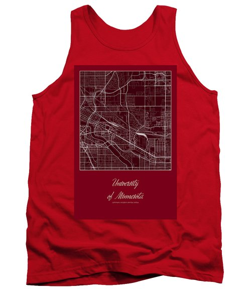 U Of M Street Map - University Of Minnesota Minneapolis Map Tank Top
