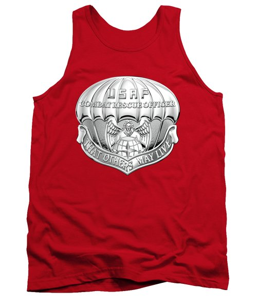 U. S.  Air Force Combat Rescue Officer - C R O Badge Over Maroon Felt Tank Top by Serge Averbukh