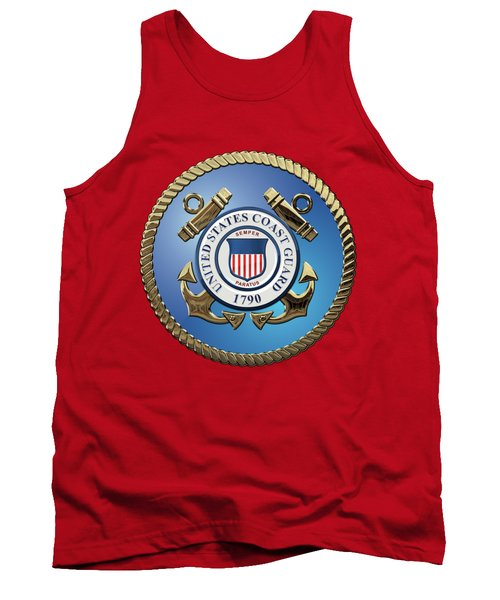 U. S. Coast Guard - U S C G Emblem Tank Top