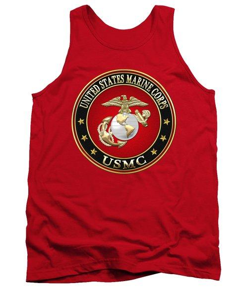 U. S. Marine Corps - U S M C Emblem Special Edition Tank Top by Serge Averbukh