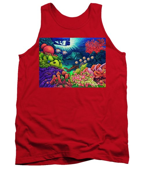 Undersea Creatures Vii Tank Top by Michael Frank