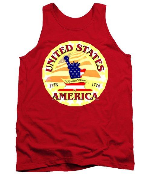 United States Of America Design Tank Top