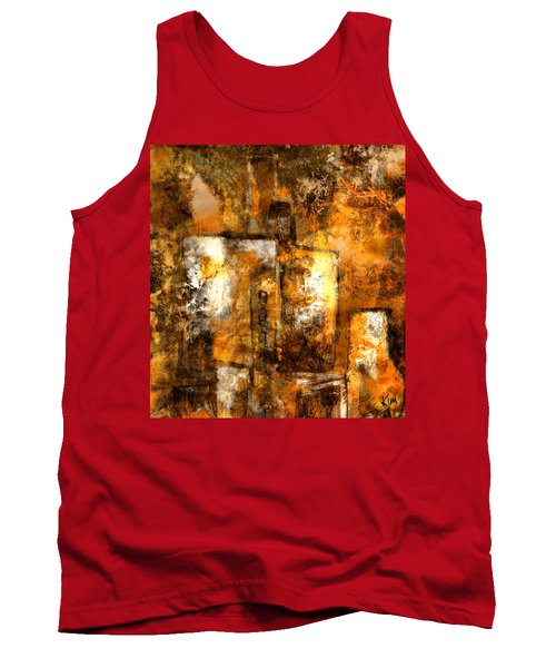 Tank Top featuring the mixed media Urban #3 by Kim Gauge