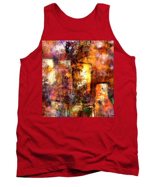 Tank Top featuring the mixed media Urban #4 by Kim Gauge