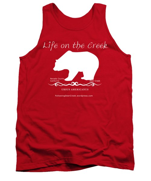 Ursus Americanus - White Text Tank Top