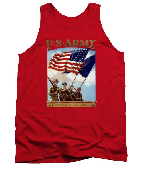 Us Army -- Guardian Of The Colors Tank Top