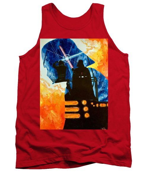 Tank Top featuring the painting Vader by Joel Tesch