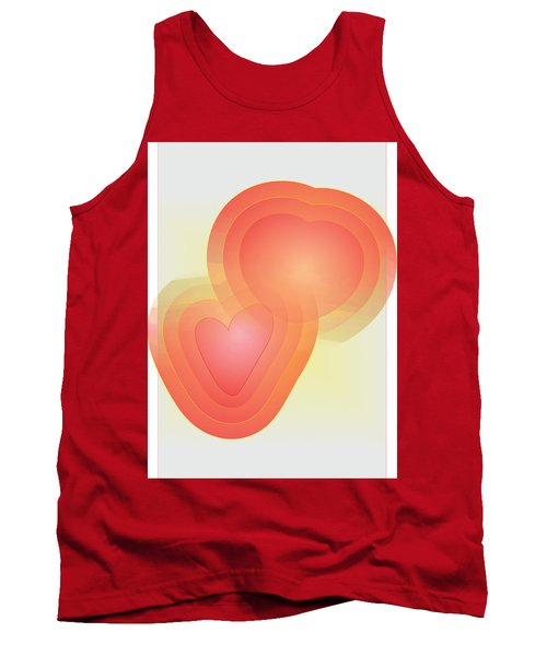 Tank Top featuring the digital art Valentine by Sherril Porter