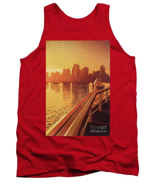 Tank Top featuring the painting Vancouver Morning- Bc by Ryan Fox