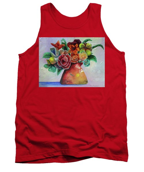Vase Full Of Peace And Delight Tank Top by Terry Honstead