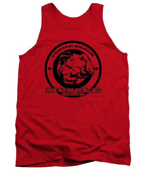 Venice Beach Arnold Muscle Tank Top by Alex Soro