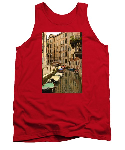 Venice Street Scene 2 Tank Top by Richard Ortolano