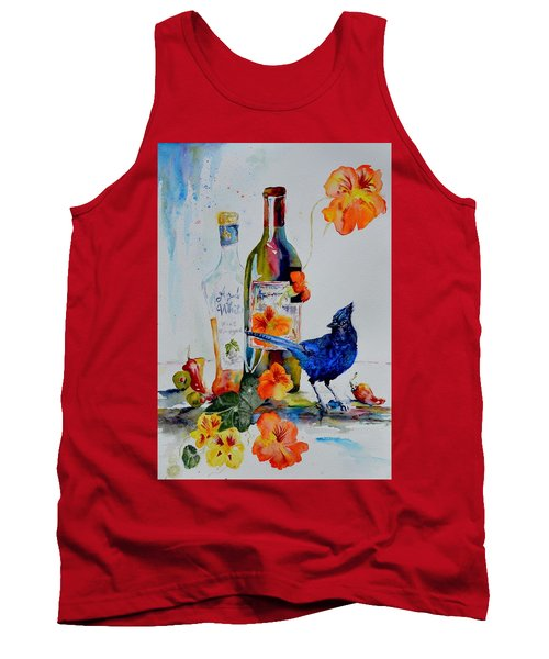 Still Life With Steller's Jay Tank Top by Beverley Harper Tinsley