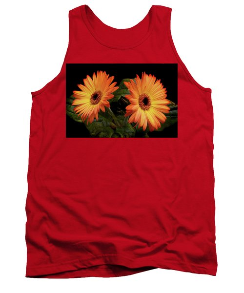 Tank Top featuring the photograph Vibrant Gerbera Daisies by Terence Davis