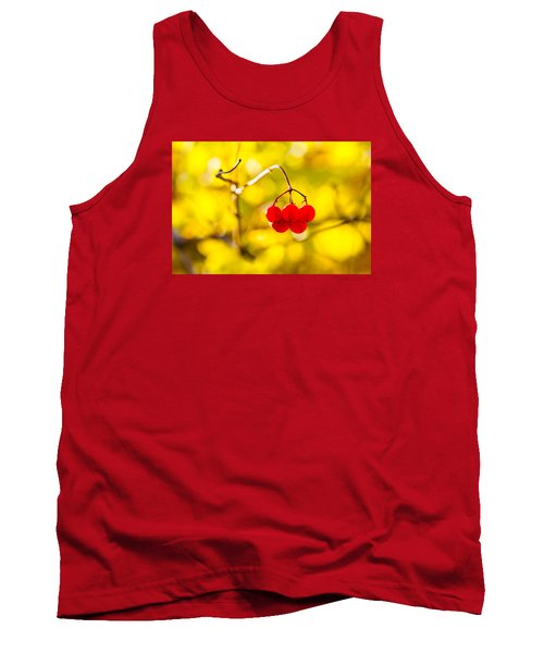 Tank Top featuring the photograph Viburnum Berries - Natural Olympic Emblem by Alexander Senin