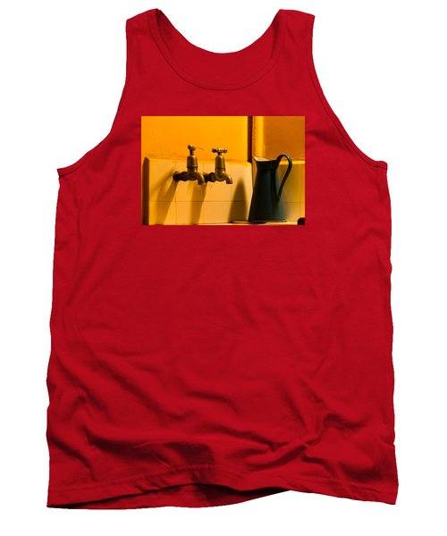 Vintage English Tap Water With Watering Can Tank Top