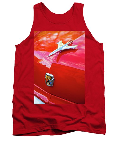 Tank Top featuring the photograph Vintage Ford Hood Ornament Havana Cuba by Charles Harden