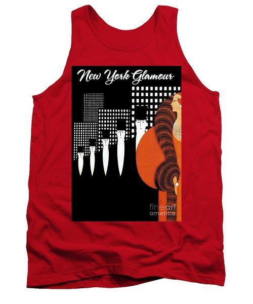 Vintage New York Glamour Art Deco Tank Top