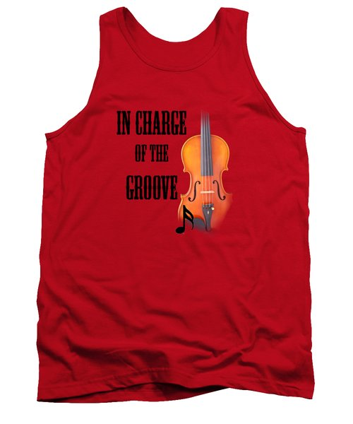 Violin Violas In Charge Of The Groove 5540.02 Tank Top by M K  Miller
